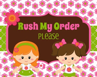 RUSH ORDER---This listing can only be purchased if the time needed by is approved first