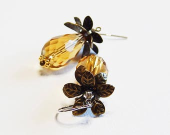 Pineapple Cutie Earrings - Sterling Silver, Brass, Vermeil, Crystal, Made in Hawaii, Summer, Fruit, Tropical, Local, Yummy