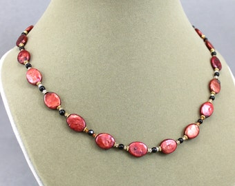 Circle of Fire Pearl Necklace