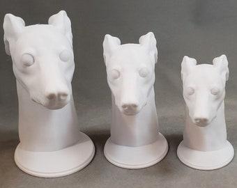 Italian Greyhound Bust Statue