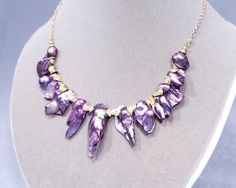 Elderberry Pearl Necklace