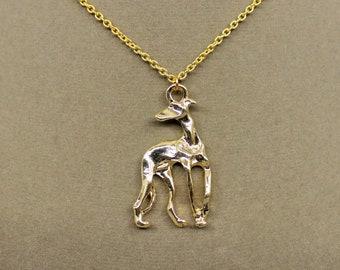 Golden Greyhound Necklace