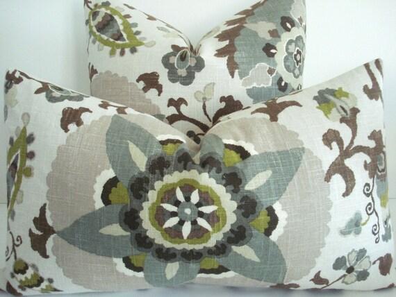 BOTH SIDES LinenP Kaufmann Decorative Pillow CoverSILSILA Etsy Interesting Rhinestone Decorative Pillows