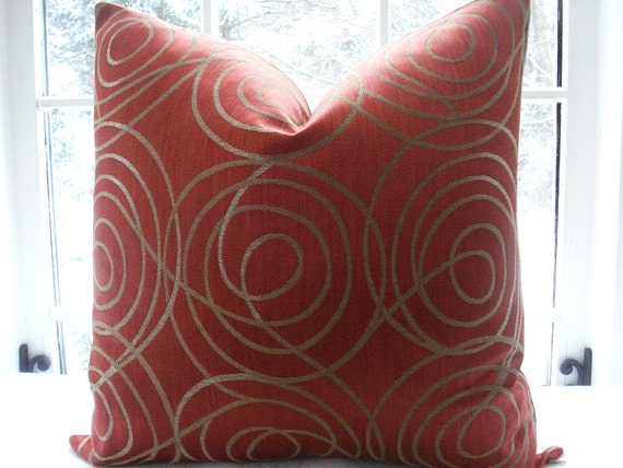 Tie Dye Pillow in Tangerine by Jamie