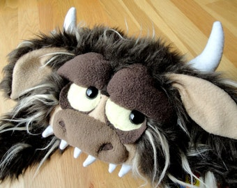 Bull Hungry Hat (Where the Wild Things Are Inspired) - MADE TO ORDER