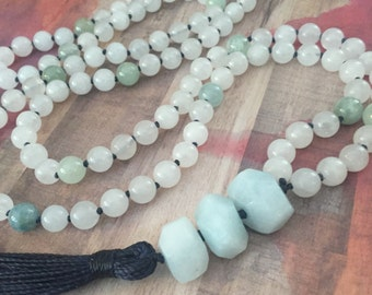 Triple goddess mala -108 beads hand knotted