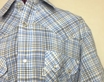 Vintage Levis Western Wear Button Down Pearl Snaps Short Sleeve
