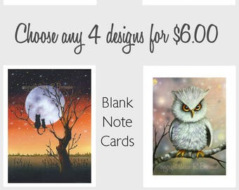 Choose any 4 Note Cards for 6.00