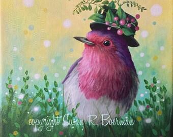 RESERVED LISTING for Phoenixsunsfan, Fancy Bird 8x10 print