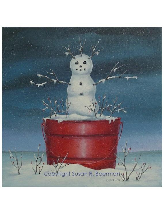snowman arms print