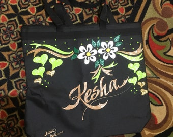 16x20 600d polyester black tote with zipper