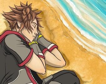Sleepy Sora from Kingdom Hearts 3