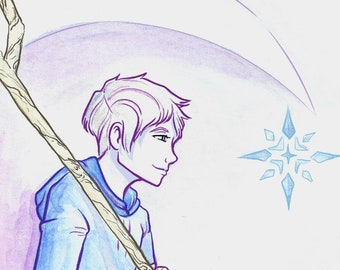 Jack Frost from Rise of the Guardians Watercolor Print