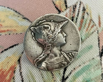Antique Athena Sterling Silver Brooch
