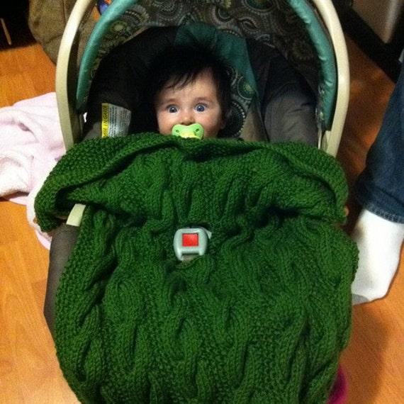 Bardan Car Seat Blanket For Baby And Toddler Pdf Knitting Etsy