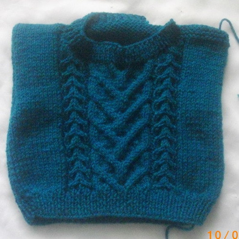 Eimear Baby/Toddler Aran Sweater Knitting Pattern   Etsy