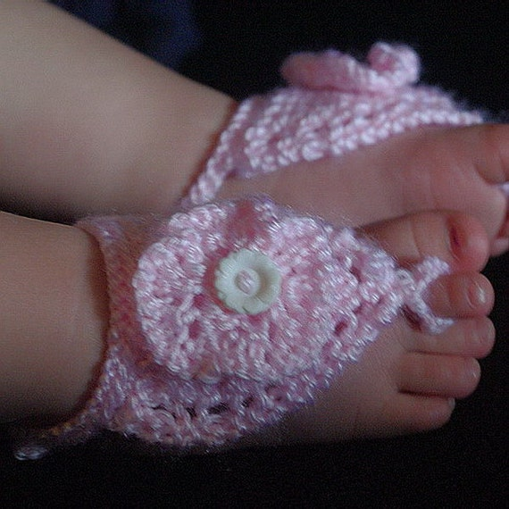 Knitting Pattern For Barefoot Sandals For Baby Or Toddler Etsy