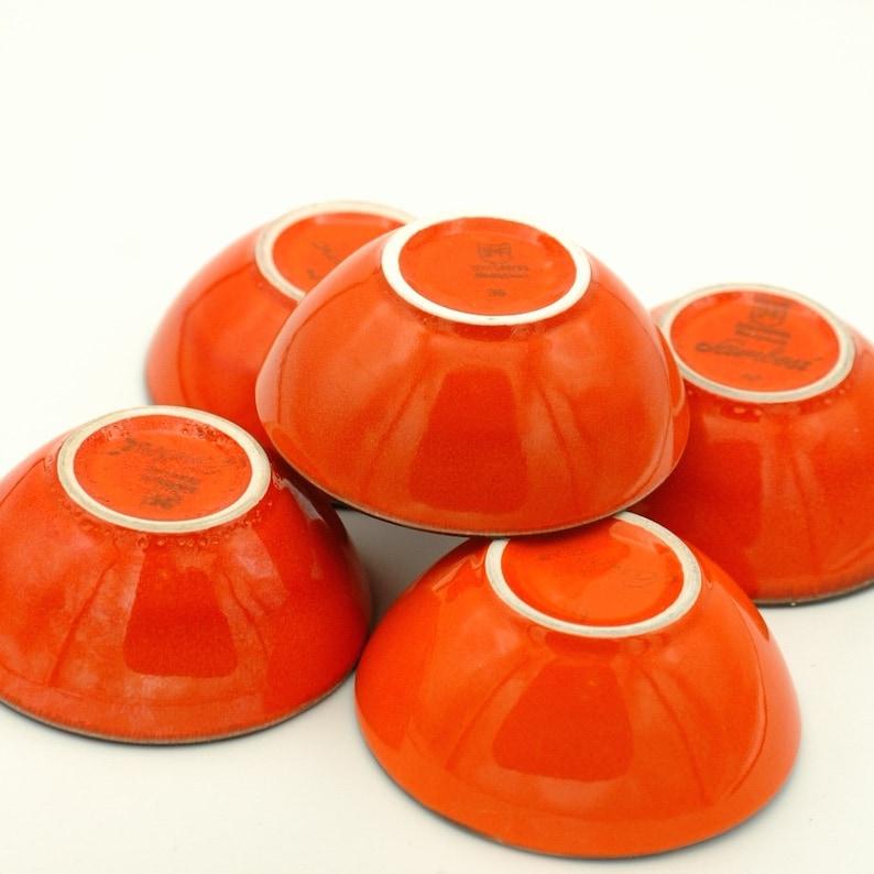 Vintage SMF Schramberg small bowls hand painted German art pottery Sambesi set of 5 bowls