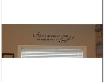 As For Me and My House - LORD - Vinyl Wall Lettering Words