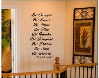 HINCKLEY BE'S - lds Vinyl Wall Lettering Decor