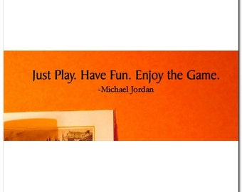 JUST PLAY - Vinyl Wall Lettering Words Decor Art Decal