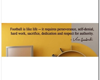 FOOTBALL IS LIKE... - Vinyl Wall Lettering Words Decor Art Decal