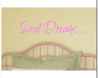 SWEET DREAMS  - Vinyl Wall Lettering Words Decal