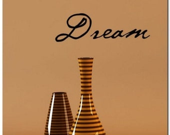 DREAM - Vinyl Wall Lettering Words Decal