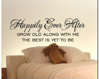 HAPPILY EVER AFTER  -  Vinyl Wall Lettering Words Decal
