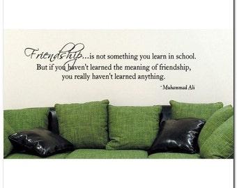 FRIENDSHIP IS - Vinyl Wall Lettering Words Decor
