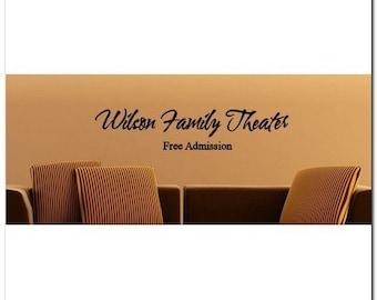 Family Theater - FREE ADMISSION - Vinyl Wall Lettering Words