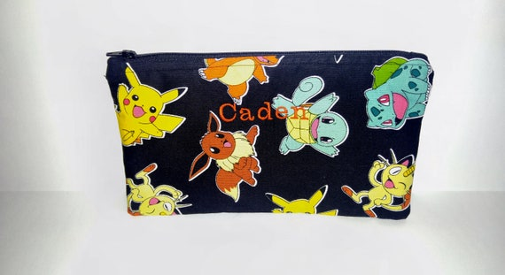 Personalised Pokemon Custom Pencil Case  Bag Gift Idea School