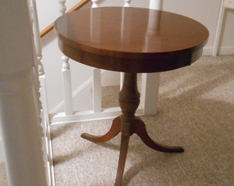 Vintage Drum Table, Round Table, Hall Table, Parlor Table