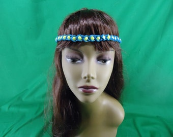 Beaded Leather Headband