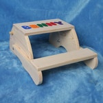 Childrens Name Stool - Child's