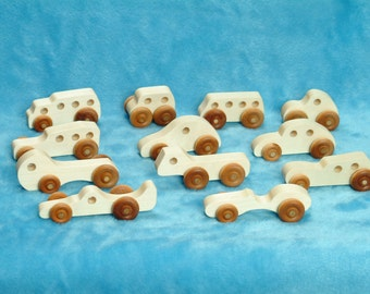Wood Toy Cars