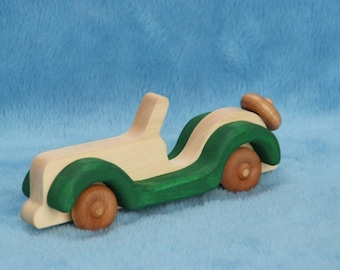 Handcrafted wooden toy car