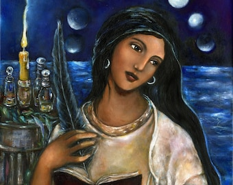Mary Magdalene art on canvas Maria Magdalena altar decor | Etsy