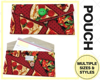 533fe870e5942 Pizza Slice Pouch - Checkbook Case, Keychain, Card Holder, Storage, Clutch