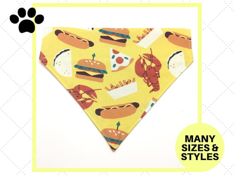 Bow Tie Bandana Neck Tie Over-the-Collar Custom Flower Festival Foods Yellow Pet Accessory