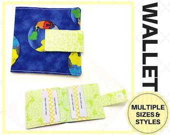 Blue Earth Day Bi-Fold Wallet - Card Holder, Clutch, Storage