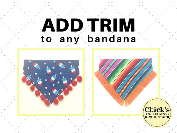 ADD ON Item Only Add Customization to a Dog Bandana from our shop with this listing