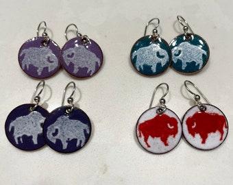 Special Order for Kim, Buffalo Penny Earrings, Buffalo Jewelry, Buffalo Earrings