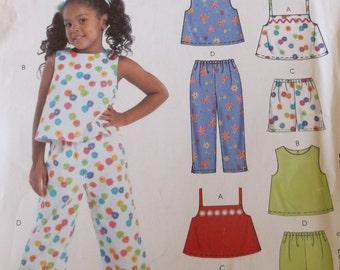 Mccalls M4341 Girls Summer Shorts,Top,Pants Pattern,Girls size 3-6,Easy Stitch Save Pattern