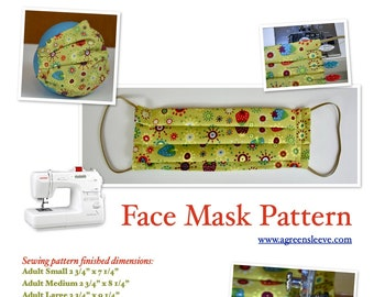 Face Mask (Instant Download) PDF Pattern- not for medical use