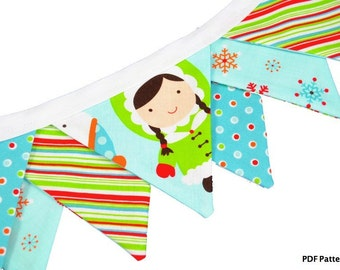 Pennant Banner (Instant Download) PDF Pattern- make it TODAY- fabric bunting, garland, pennant strings