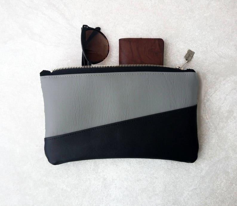 Black and Grey Makeup Bag