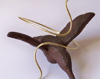 Armlet - Armband - Upper Arm Jewelry - Brass Hammered Armband - Upper Arm Cuff - Gold Armlet - Also in Copper Bronze or German Silver