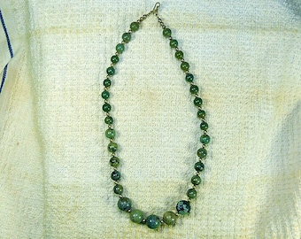 19 Inch Round Turquoise with Sterling Necklace