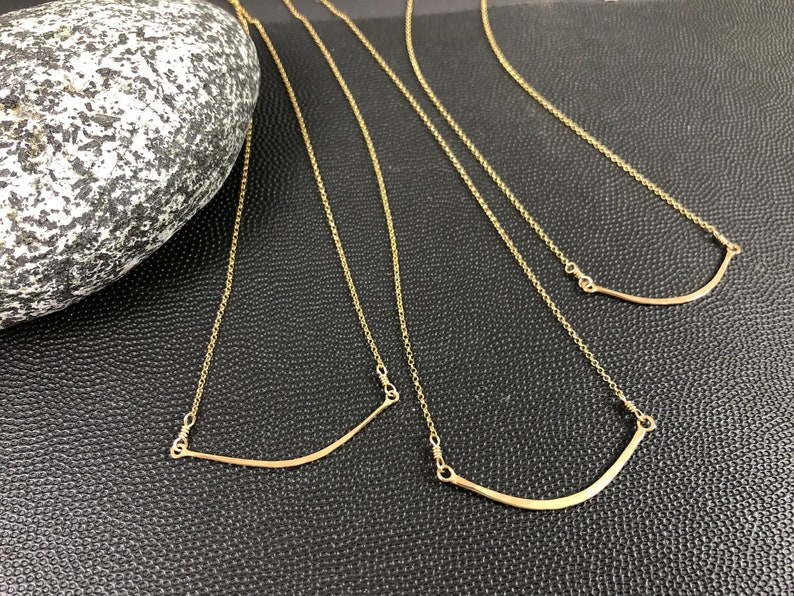 Everyday Canoe Necklace in Gold Fill